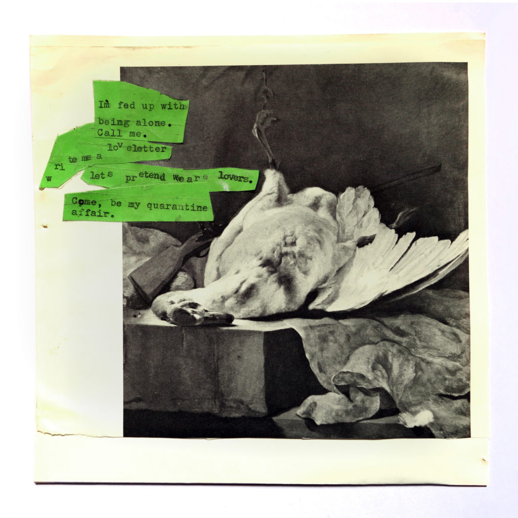 Dead inside but still horny, Collage, 17 x 17 cm, 2020.